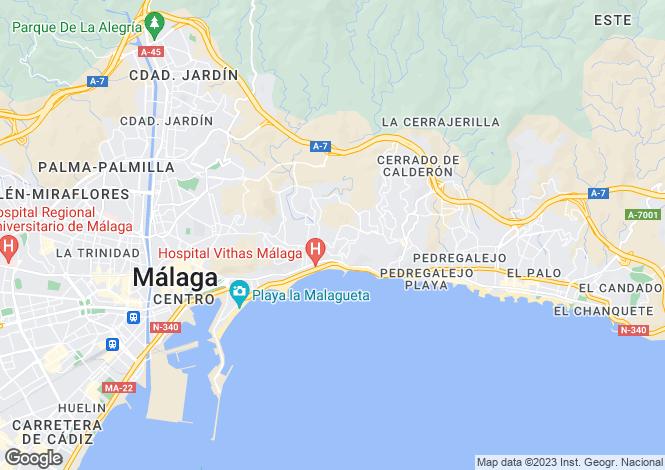 Map for Andalusia, Malaga, Málaga City