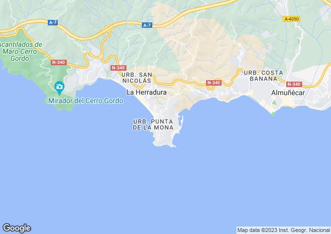 Map for Spain - Andalusia, Granada, Almuñécar