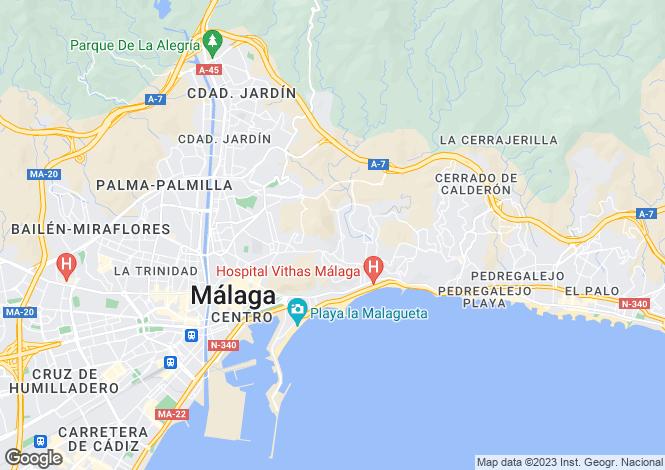 Map for Málaga, Málaga, Andalusia