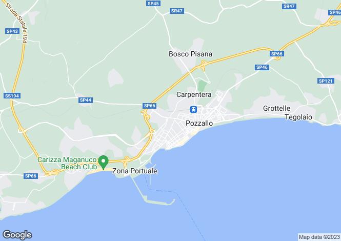 Map for Pozzallo, Ragusa, Sicily