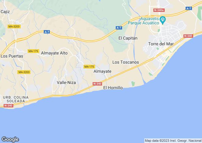 Map for Andalucia, Malaga, Almayate