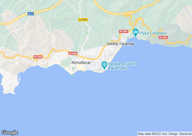 Map for Spain - Andalucia, Granada, Almuñécar