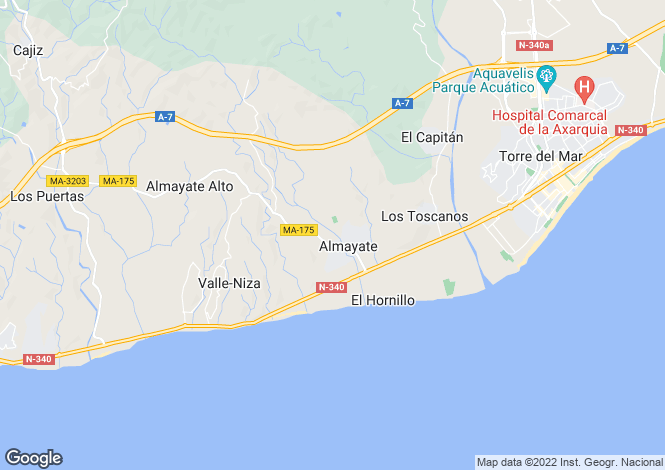 Map for Almayate, Málaga, Andalusia