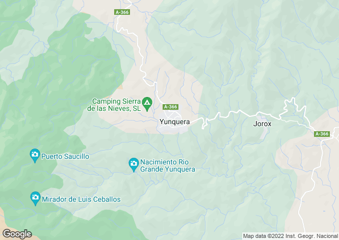 Map for Spain - Andalusia, Malaga, Yunquera