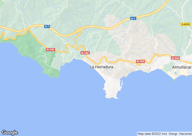 Map for La Herradura, Granada, Spain