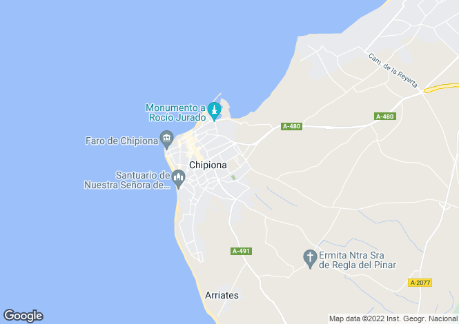 Map for Burzon No.4 ,Chipiona ,Cadiz ,Spain