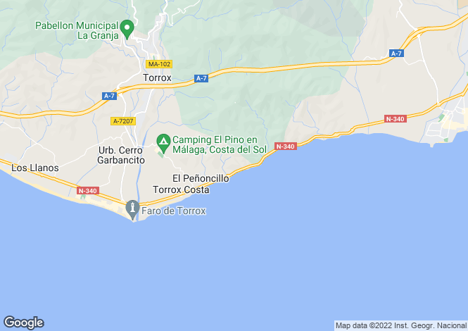 Map for Spain - Andalusia, Malaga, Torrox