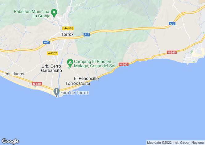 Map for Andalusia, Malaga, Torrox