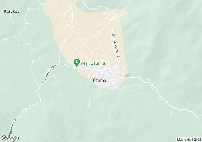 Map for Üzümlü, Fethiye, Mugla