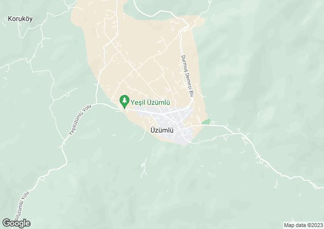 Map for Mugla, Fethiye, Üzümlü