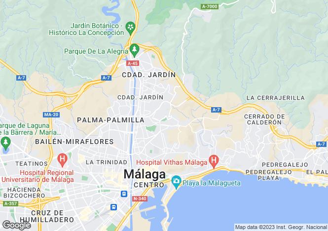 Map for Malaga, Malaga, Spain