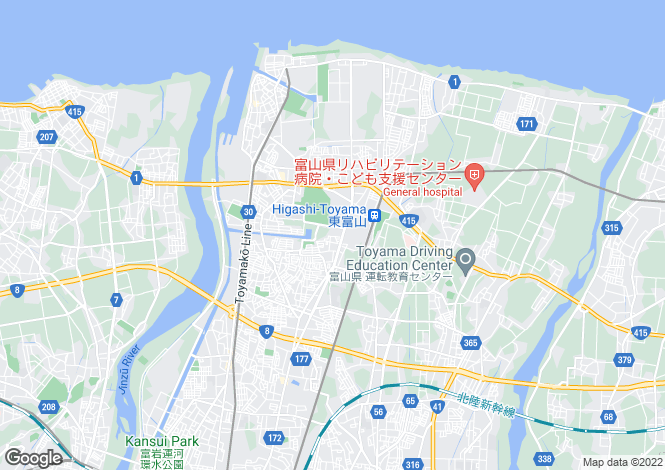 Map for Toyama