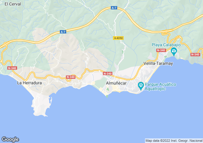 Map for Andalucia, Granada, Almuñécar