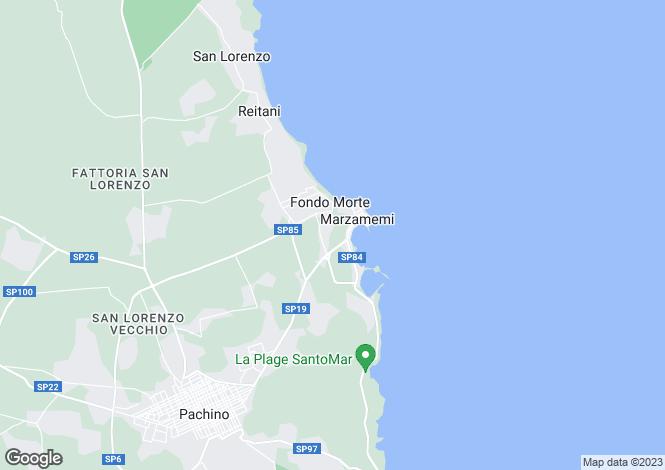 Map for Marzamemi, Syracuse, Sicily