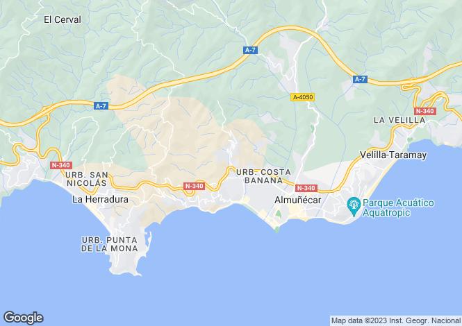 Map for Almuñécar, Granada, Andalusia