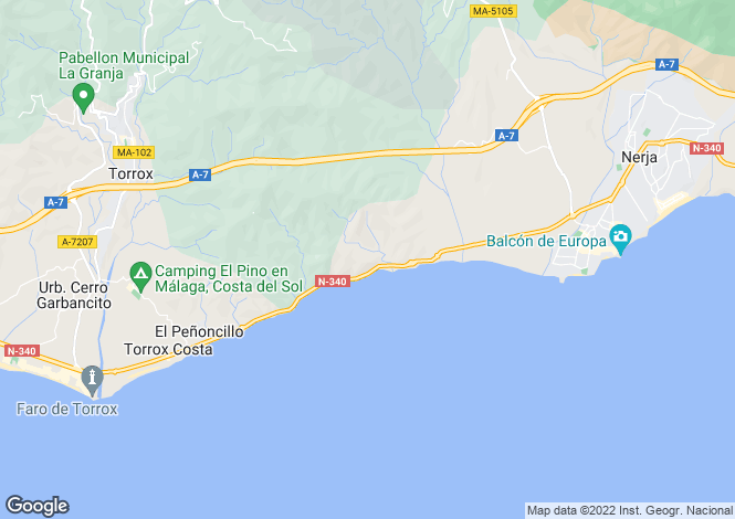Map for Nerja, Málaga, Andalusia