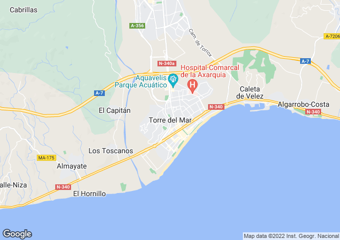 Map for Andalucia, Malaga, Torre del Mar