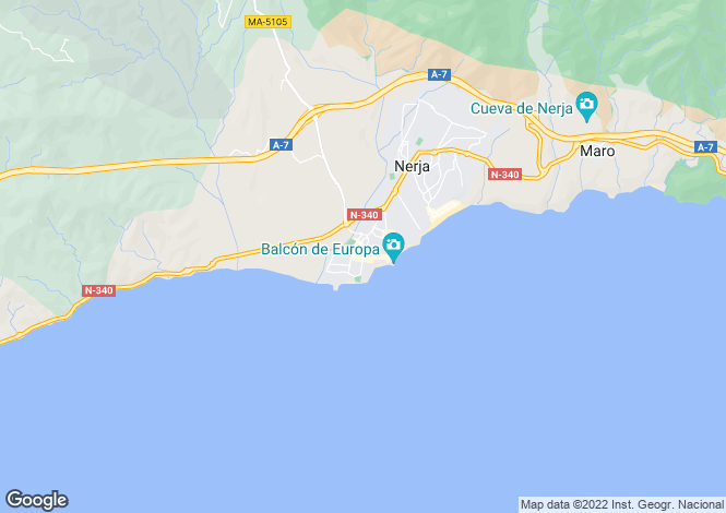 Map for Spain - Andalucia, Malaga, Nerja