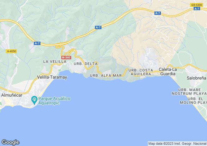 Map for Andalusia, Granada, Salobrena