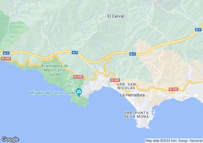Map for La Herradura, Granada, Spain
