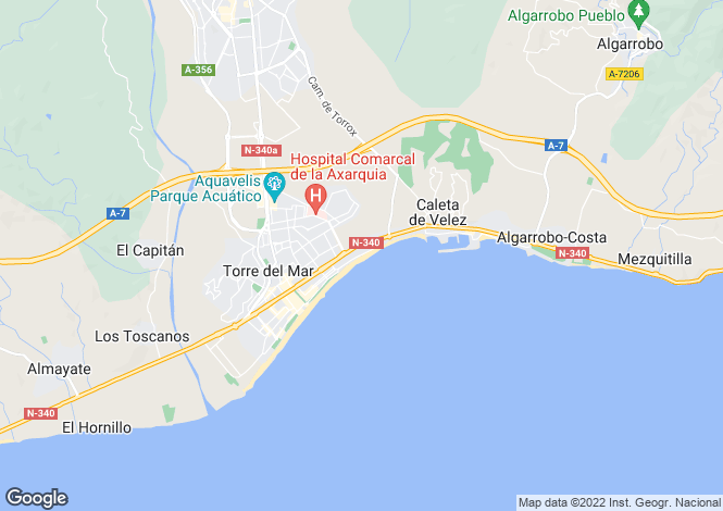Map for Torre del Mar, Spain
