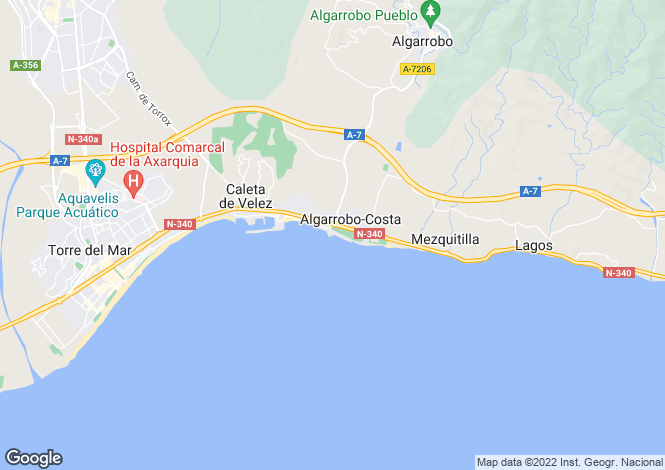 Map for Andalucia, Malaga, Algarrobo