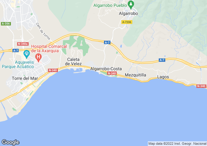 Map for Algarrobo, Málaga, Andalusia