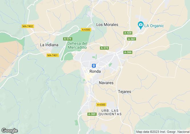 Map for Arriate, Ronda, Malaga, Spain