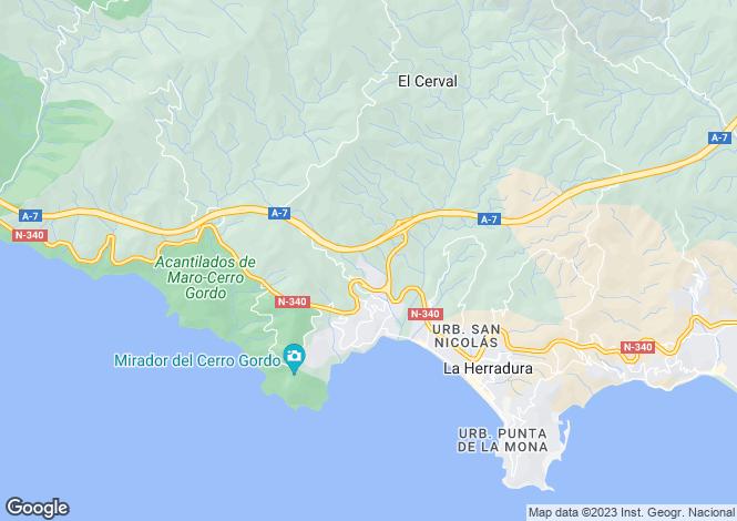 Map for La Herradura, Spain