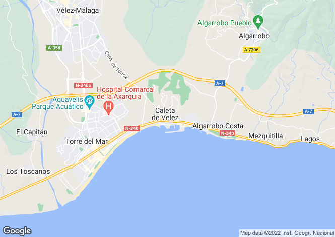 Map for Torre del Mar, Málaga, Andalusia