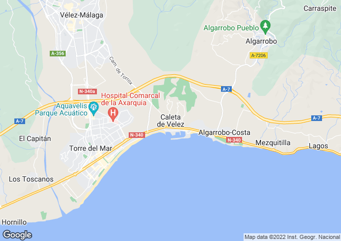 Map for Andalusia, Malaga, Caleta De Velez