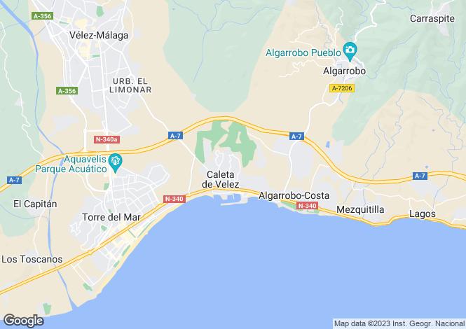 Map for Andalucia, Malaga, Caleta De Velez