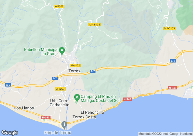 Map for Torrox, Málaga, Andalusia