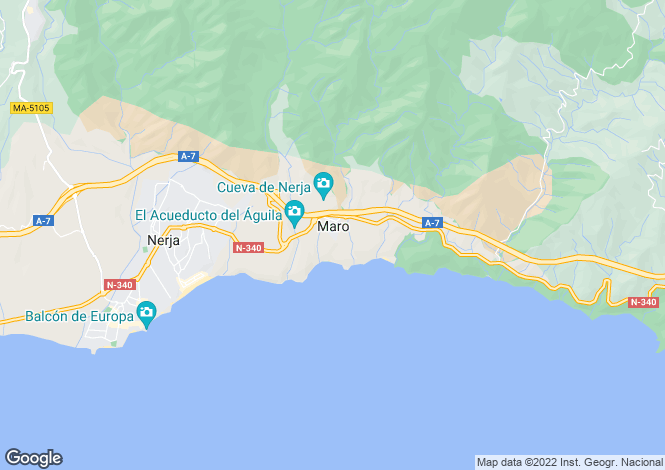 Map for Andalusia, Málaga, Maro