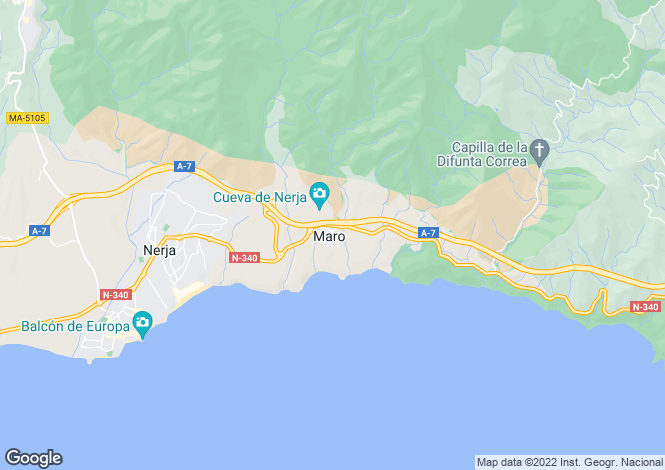 Map for Andalusia, Malaga, Maro