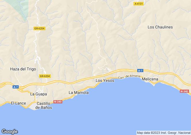 Map for Andalusia, Granada, La Mamola