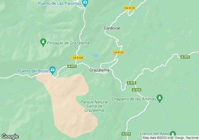 Map for Grazalema, Cadiz, Spain