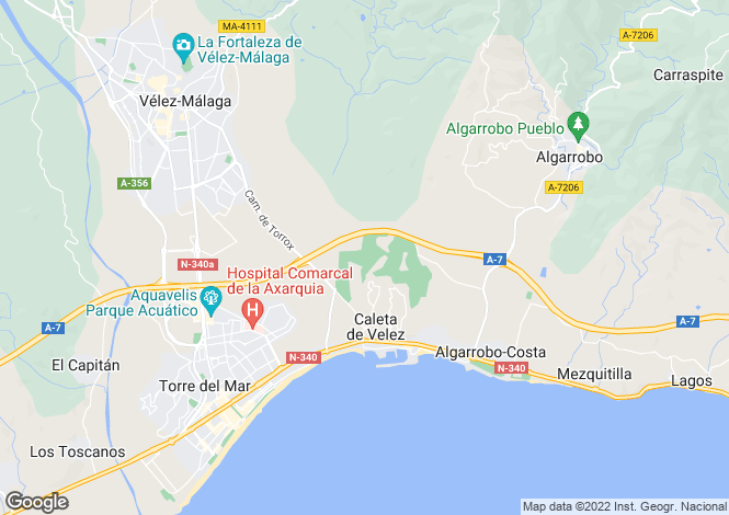 Map for Andalucia, Malaga, Caleta De Velez