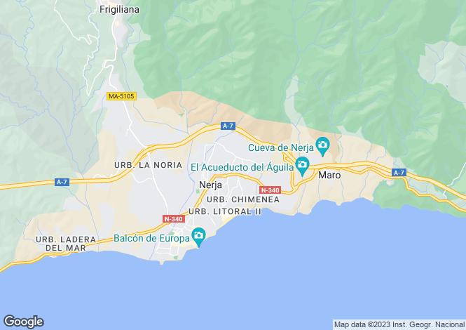 Map for Nerja, Spain