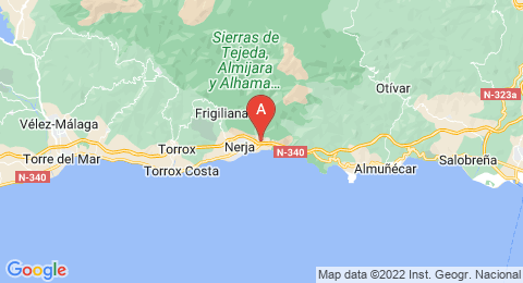 map of Caves of Nerja (Spain)