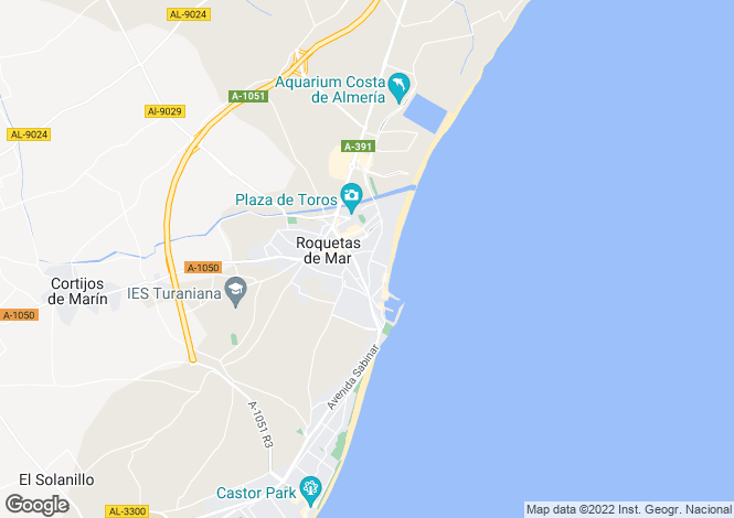 Map for Roquetas de Mar, Almería, Andalusia