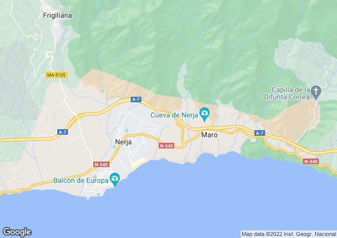 Map for Andalucia, Malaga, Maro