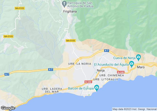 Map for Andalusia, Malaga, Frigiliana