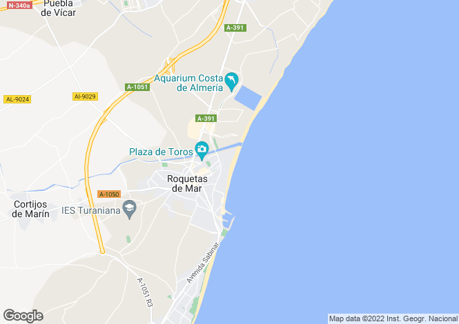 Map for Roquetas de Mar, Spain