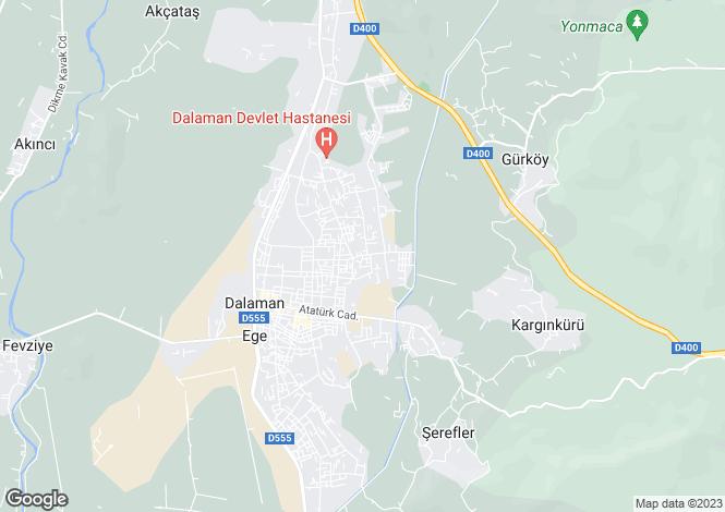 Map for Mugla, Dalaman, Dalaman