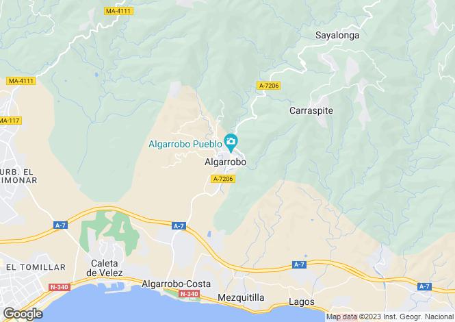 Map for Andalucia, Malaga, Algarrobo