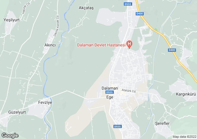 Map for Dalaman, Mugla,  Turkey