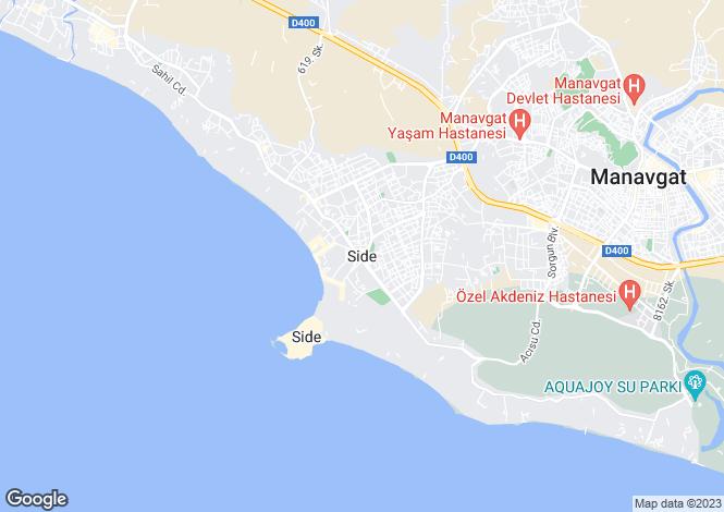 Map for Antalya, Side