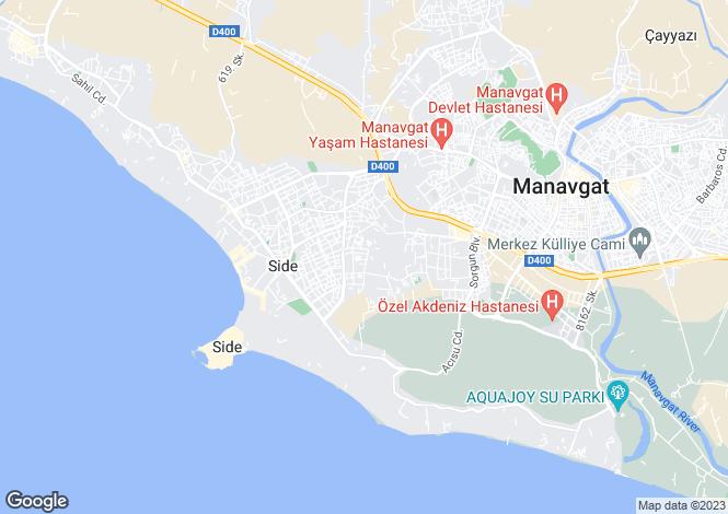 Map for Side, Antalya