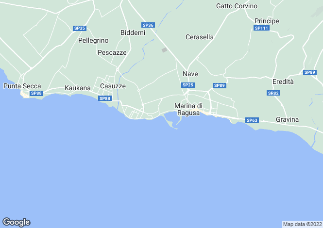 Map for Marina di Ragusa, Ragusa, Sicily
